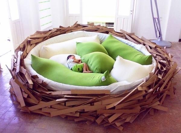 Hẳn ai cũng thích chiếc giường tổ chim này rồi