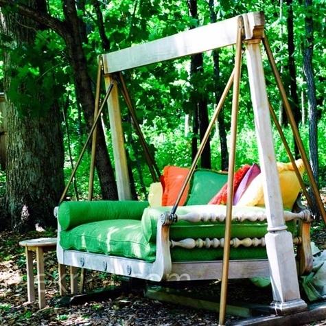 Giường-ghế-đu kết hợp - nơi nghỉ ngơi tuyệt vời ngoài trời