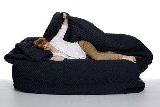 Chiếc ghế ấm áp này có thể biến thành giường ngủ trong chốc lát