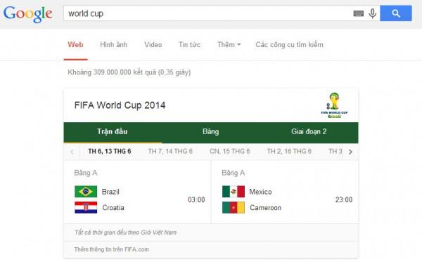 Lịch thi đấu World Cup