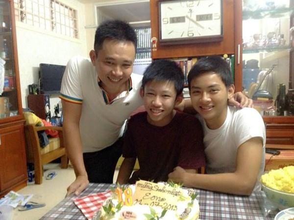 Dịp sinh nhật năm ngoái (2013) của Hoài Lâm