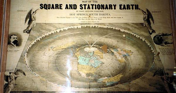Tấm bản đồ cổ 120 năm tuổi vẽ trái đất phẳng