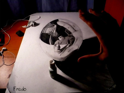 Lost Head 30 Life Like 3D Pencil Drawings by Wladimir Inostroza