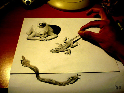 Eyetiles 30 Life Like 3D Pencil Drawings by Wladimir Inostroza