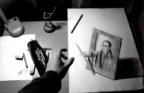 John Daltons Gif 30 Life Like 3D Pencil Drawings by Wladimir Inostroza