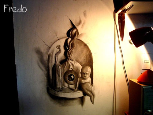 Still life 30 Life Like 3D Pencil Drawings by Wladimir Inostroza