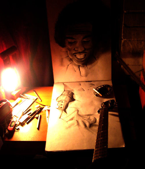 Jimmi 30 Life Like 3D Pencil Drawings by Wladimir Inostroza