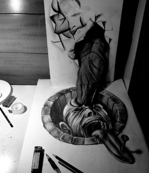 Censorship 30 Life Like 3D Pencil Drawings by Wladimir Inostroza