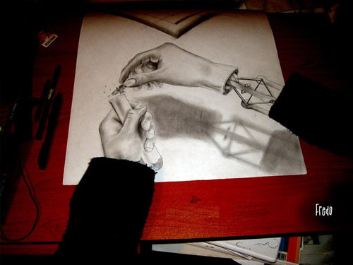 Olvido 30 Life Like 3D Pencil Drawings by Wladimir Inostroza