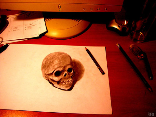Naturaleza Muerta 30 Life Like 3D Pencil Drawings by Wladimir Inostroza