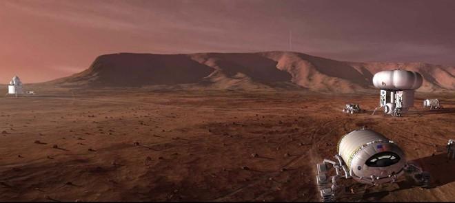 Trọng lượng của một người nặng 100 kg giảm còn 48 kg khi anh ta đặt chân lên sao Hỏa. Ảnh: Wikipedia.