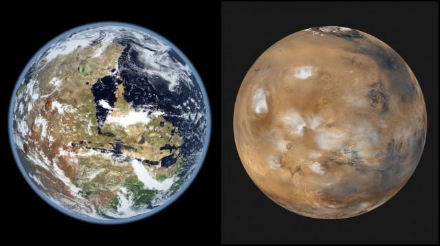 Trên miệng núi lửa McLaughlin Crater của sao Hỏa có đất sét và carbon. Ảmj: Toptenz.