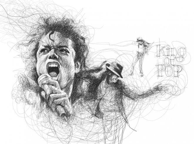 Vince thường lấy các ngôi sao ca nhạc, điện ảnh nổi tiếng thế giới làm chủ đề cho các sáng tạo của anh. | Michael Jackson | King of pop