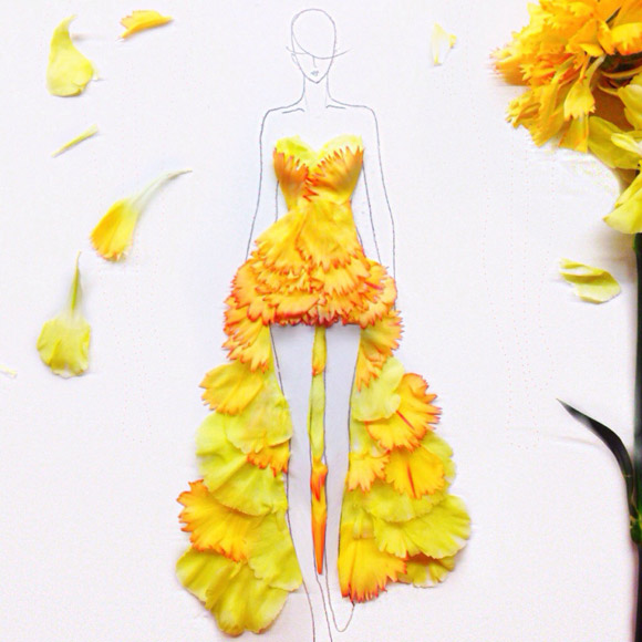 Choáng ngợp với mẫu thiết kế thời trang tuyệt đẹp từ ...cánh hoa