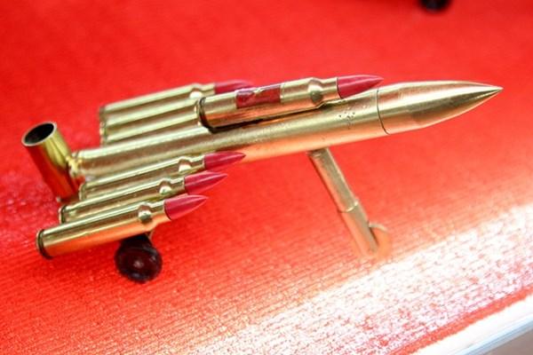Đây là những sản phẩm được làm từ những viên đạn đã qua sử dụng tại trường bắn.