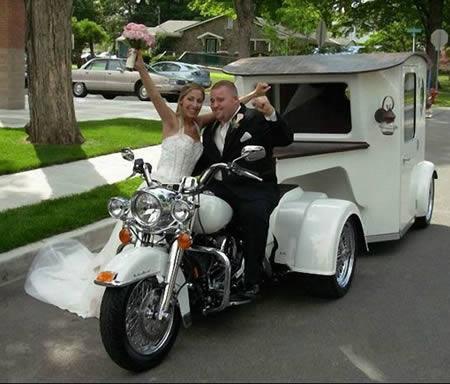 Những chiếc xe cưới độc đáo nhất quả đất