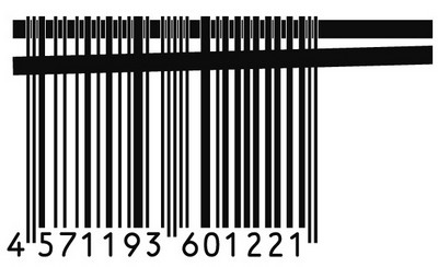Thêm hình ảnh của đôi đũa lên trên mã vạch, kết quả sẽ có được hình ảnh của những sợi mì.