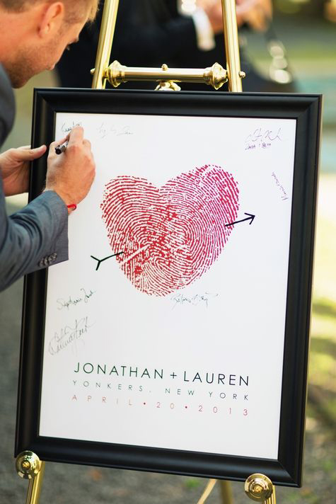 Ý tưởng sổ ký tên thú vị và độc đáo cho đám cưới