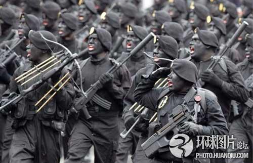 Ảnh vui về các binh sĩ trên thế giới | Đội quân mặt đen.