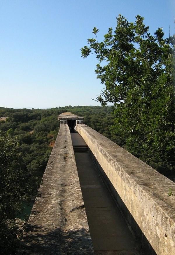 Tầng 3 của cây cầu nơi được sử dụng để dẫn nước - Ảnh Panoramic