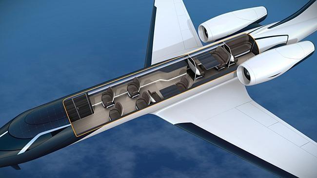 Máy bay không cửa sổ tạo góc nhìn siêu rộng