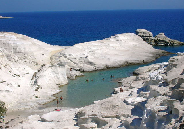 Biển Sarakiniko, Milos, Hy Lạp
