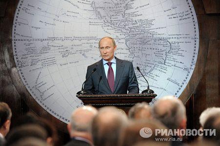 Năm 2009, ông Putin đã được bầu làm Chủ tịch ban quản trị của Hiệp hội địa lý Nga (RGO). Hiệp hội này hi vọng ông Putin sẽ tiếp tục nằm giữ vị trí này sau khi nhậm chức tổng thống.