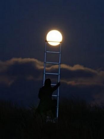 """Bộ ảnh độc đáo """"ánh trăng"""""""