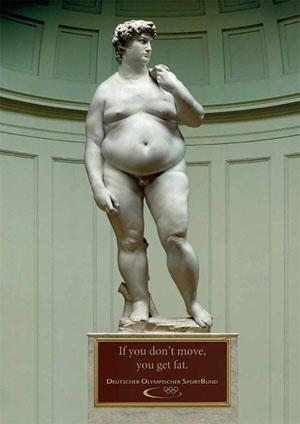 Trải qua bao nhiêu năm đứng yên một chỗ, nam thần David cũng trở nên phát phì.