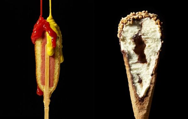 Chùm ảnh ấn tượng của những món ăn bị cắt làm đôi