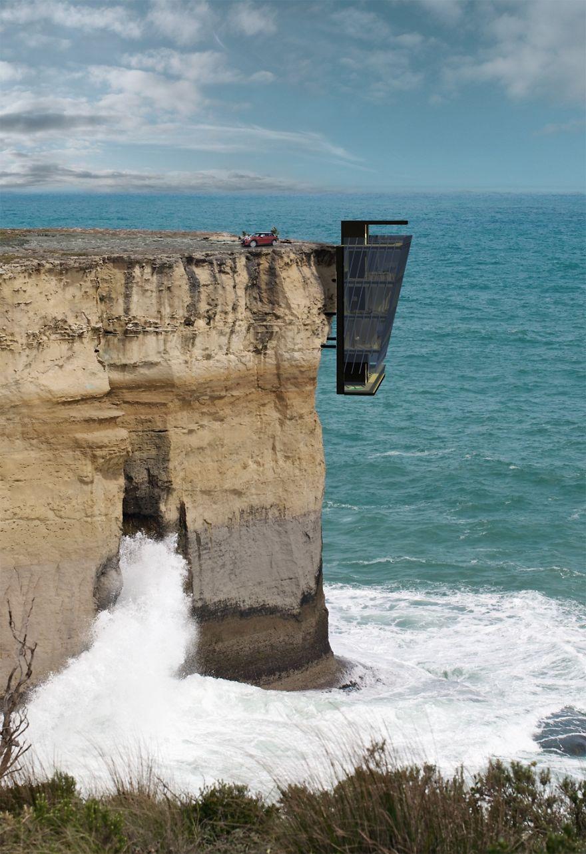 """Mang tên Cliff House - Ngôi nhà vách đá, đây là một """"concept"""" nhà đặc biệt, được tạo ra bởi Modscape, một công ty thiết kế có trụ sở tại Australia."""