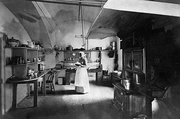 Hình ảnh khu bếp Nhà Trắng chụp năm 1890 dưới thời Tổng thống Benjamin