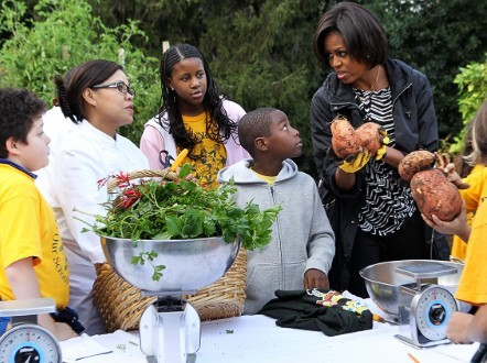 Đệ nhất phu nhân Michelle Obama cải tạo khu đất trong khuôn viên Nhà Trắng để biến nó trở thành vườn rau.