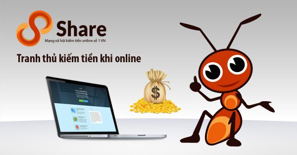 8Share là trang web kiếm tiền duy nhất có thể thanh toán tiền bằng hình thức chuyển tiền trực tiếp vào tài khoản ngân hàng cho thành viên