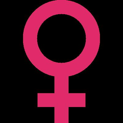 Dấu hiệu hình tròn và chữ thập biểu thị cho giới tính nữ đồng thời cũng là biểu tượng của sao Kim