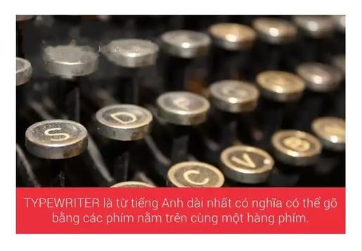 Từ tiếng anh dài nhất có nghĩa có thể được tạo ra từ các phím trên một hàng phím có 10 kí tự.