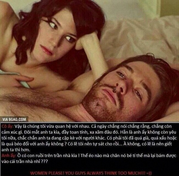 Phụ nữ luôn suy nghĩ quá nhiều trong khi đàn ông đơn giản hơn nhiều