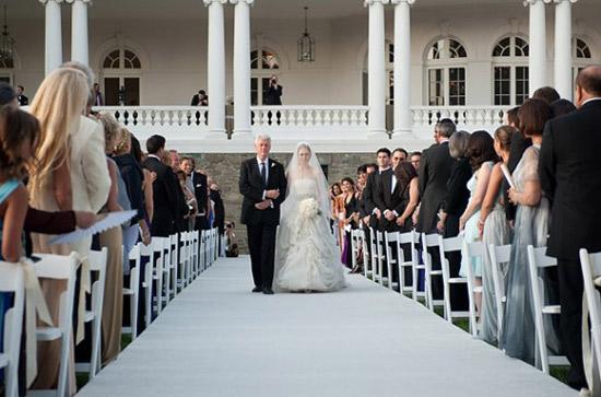 Đám cưới của con gái Ngoại trưởng Mỹ Hillary Clinton và cựu Tổng thống Mỹ Bill Clinton