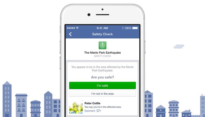Công cụ Safety Check - Ảnh: Facebook