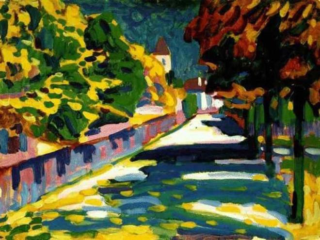 """Mùa thu ở Bavaria"" của Wassily Kandinsky"