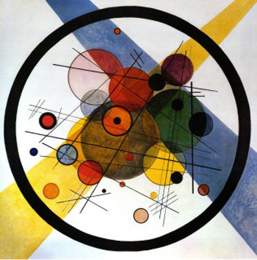 Cirles in Cirle – Nhiều vòng tròn trong 1 vòng tròn (1923) có chứa 26 vòng tròn nằm trong 1 vòng tròn lớn
