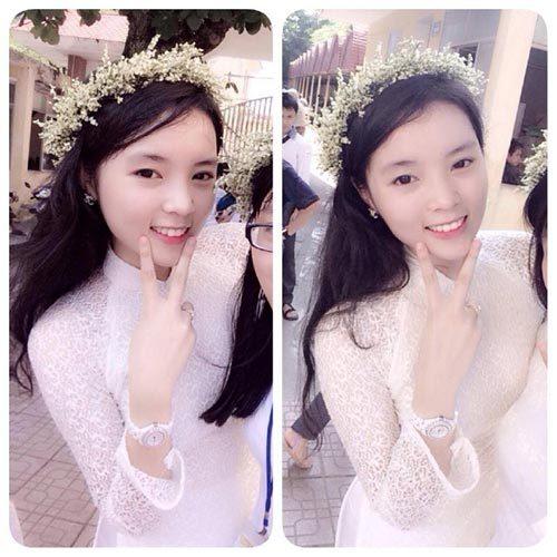 Vẻ đẹp trong sáng của tân hoa hậu khi còn là học sinh trường THPT chuyên Lê Hồng Phong Nam Định