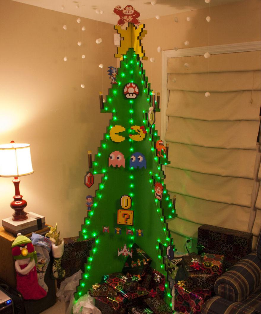 Những ý tưởng cực 'độc' cho cây thông Noel - Ảnh 15