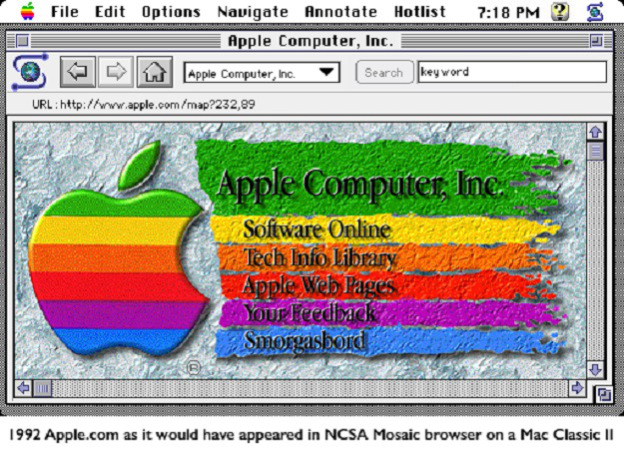apple homepage browser mosaic