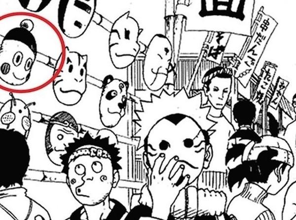Khuôn mặt của Chiaotzu đã từng xuất hiện trong một tập truyện Naruto trong một chiếc mặt nạ.