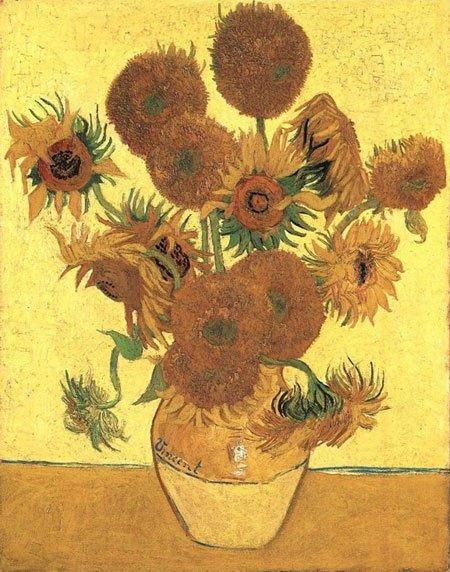 Hoa hướng dương trong tranh Van Gogh.