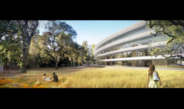 Xem những hình ảnh mới về trụ sở hình phi thuyền của Apple