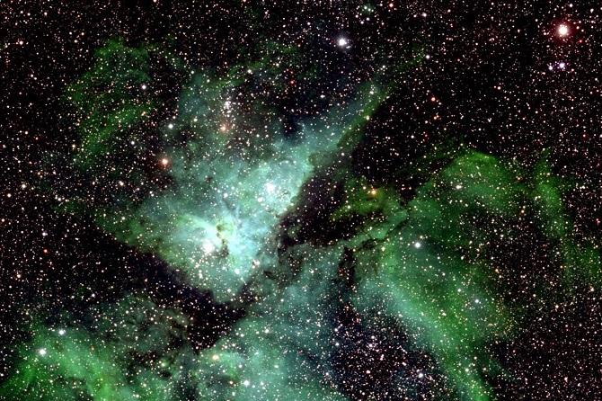 Tinh vân Eta Carinae được cắt ra từ bức ảnh trên