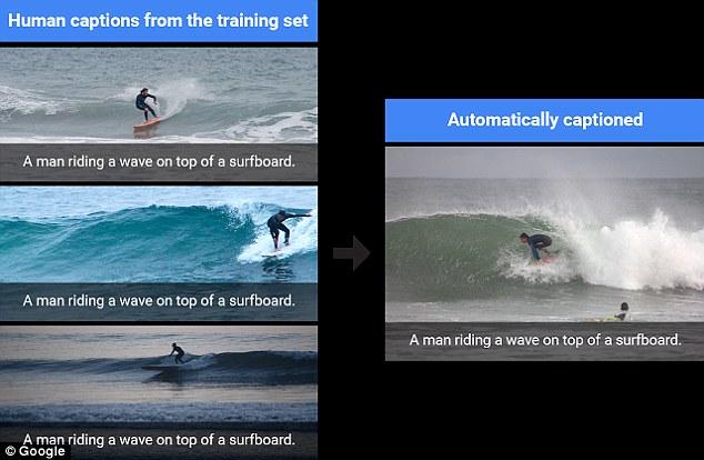 AI sẽ tự động sử dụng chú thích đã được học cho những hình ảnh với nội dung tương tự