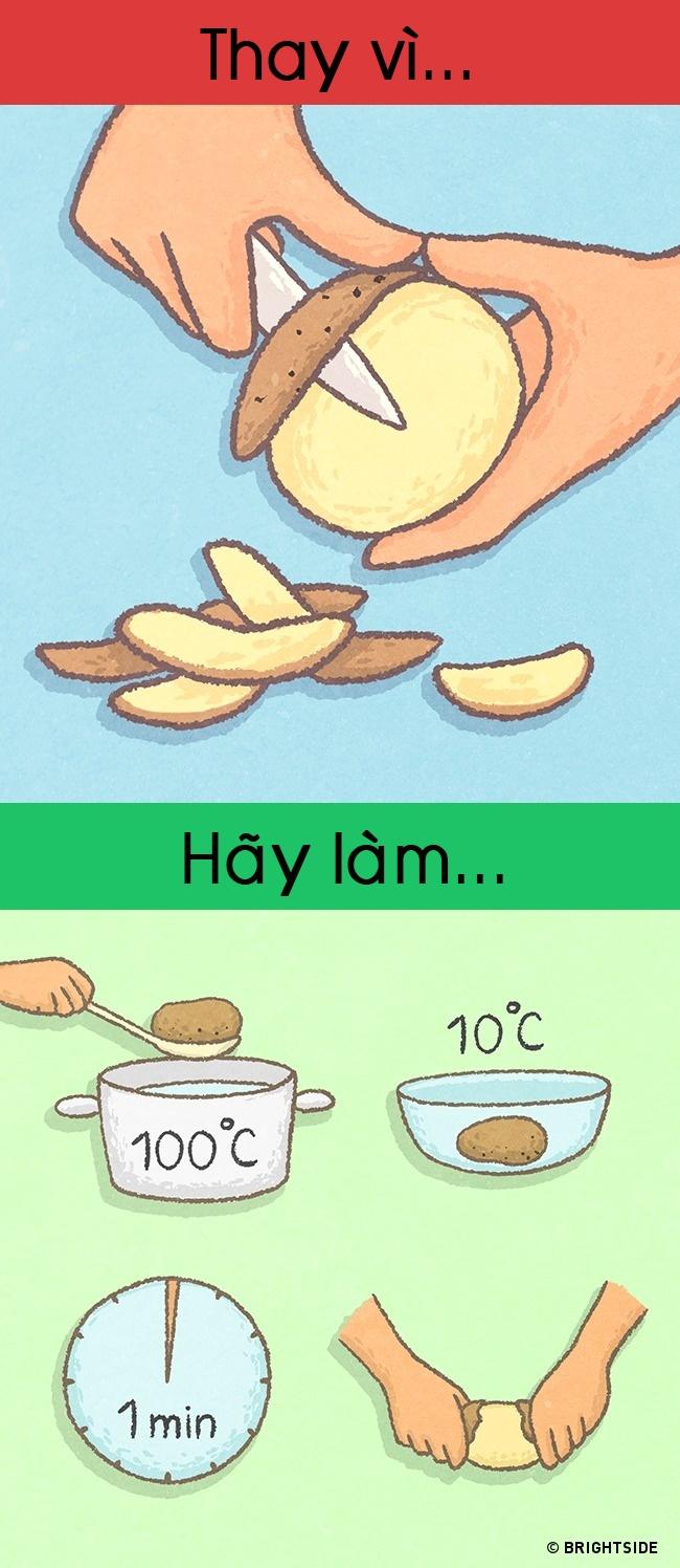 Cách làm sạch khoai tây